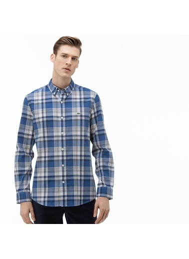 Lacoste Erkek Slim Fit Gömlek CH0075.75L Mavi